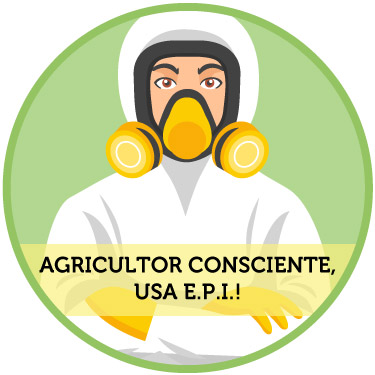 Agricultor consciente usa EPI