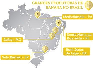 produtoras de banana no brasil